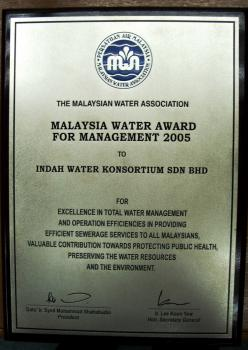 Malaysia Water Award For Management 2005