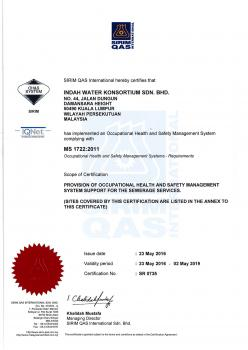MS 1722 2011 - Occupational Health and Safety Mgmt System