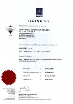 ISO 55001:2014 Asset Management System
