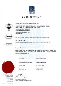 ISO 50001:2011 Energy Management System